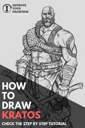 HOW TO DRAW KRATOS STEP BY STEP TUTORIAL