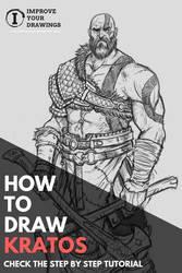 HOW TO DRAW KRATOS STEP BY STEP TUTORIAL by ARTOFJUSTAMAN