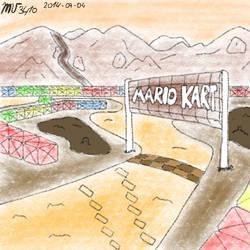 Super Mario Kart's Choco Island 1 by Mariovariable3410