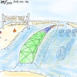 Super Mario Kart's Koopa Beach 1 by Mariovariable3410