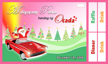 Christmas Party Ticket Design