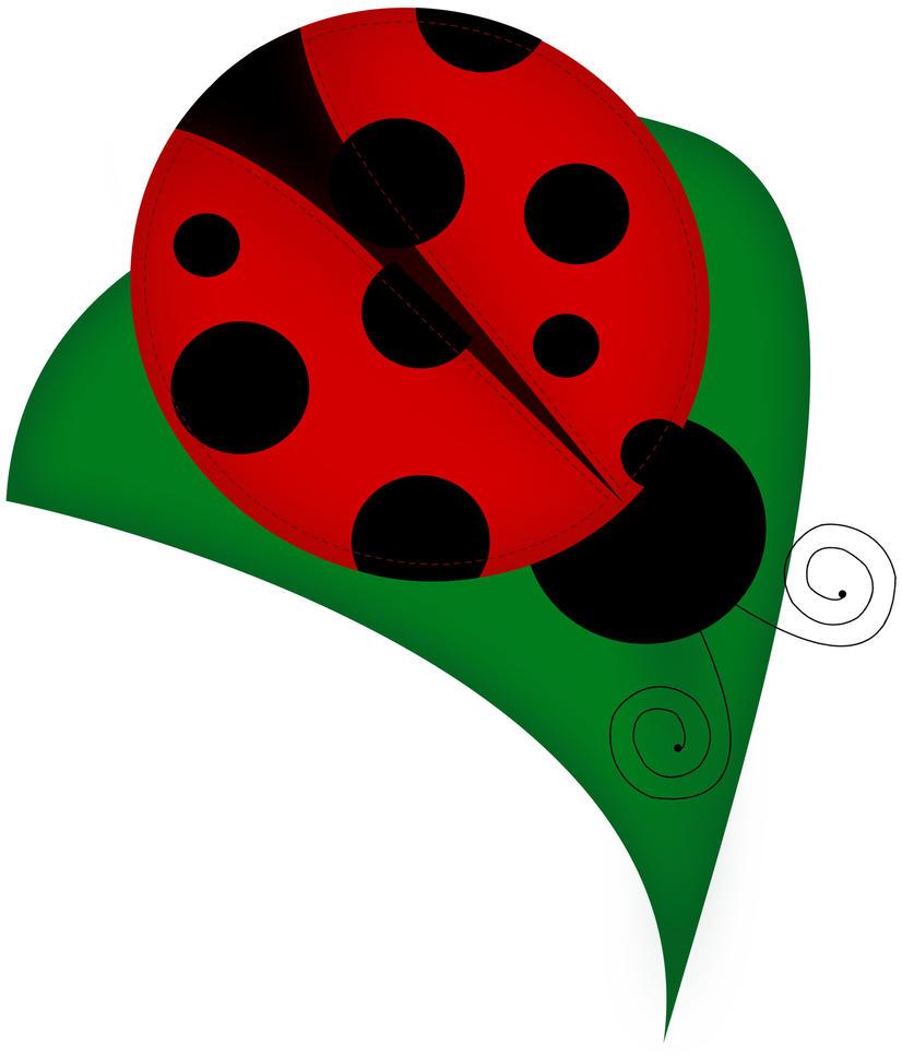 lazy bug and leaf #1 by deahriccio on DeviantArt for Clipart Ladybug On Leaf  131fsj