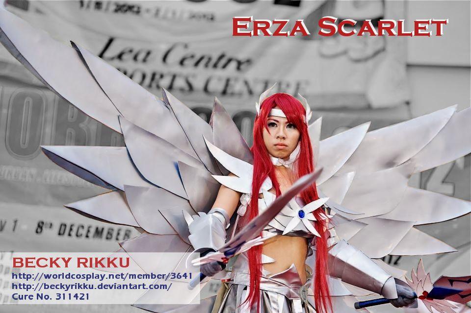 Erza Scarlet Heavens Wheel Armor Cosplay
