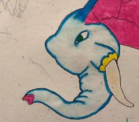 BLUE ELEPHANT by StartletSolarShine
