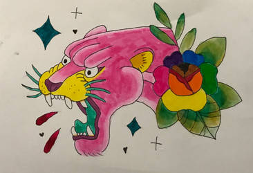 Pink Panther Pride Tattoo by StartletSolarShine