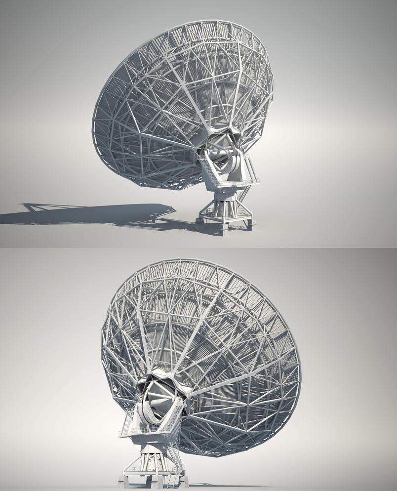 Radio Telescope | back by abdelrahman