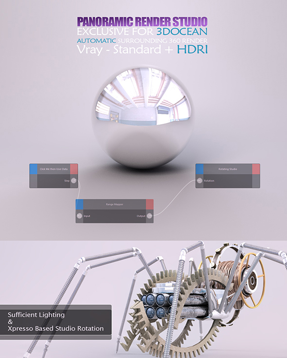 C4D Vray Studio + 3 Materials - 4
