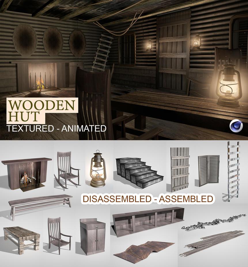 3D Wooden Hut by abdelrahman