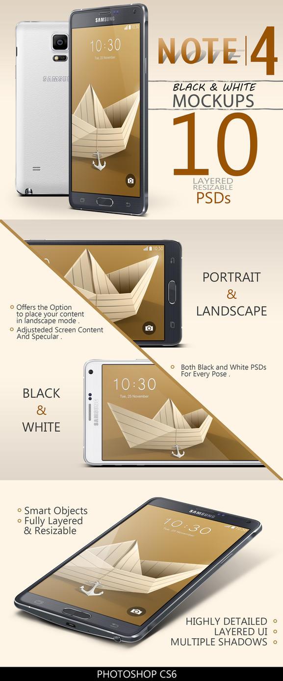 Galaxy Note 4 | 10 PSDs by abdelrahman