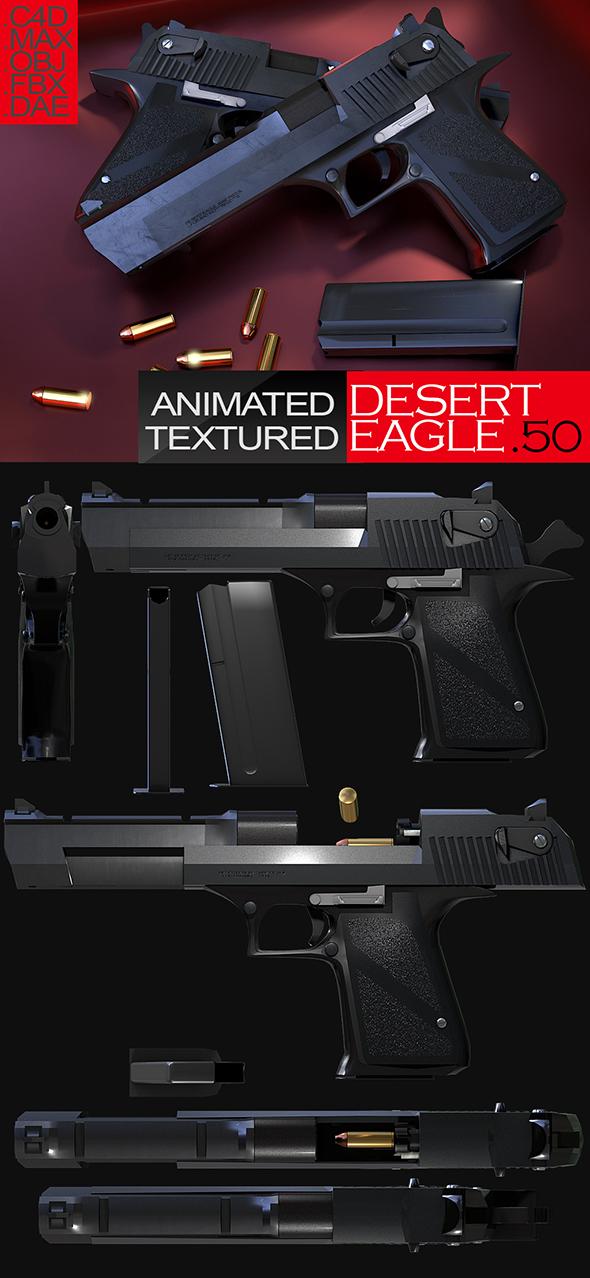 Desert Eagles 3D Model by abdelrahman