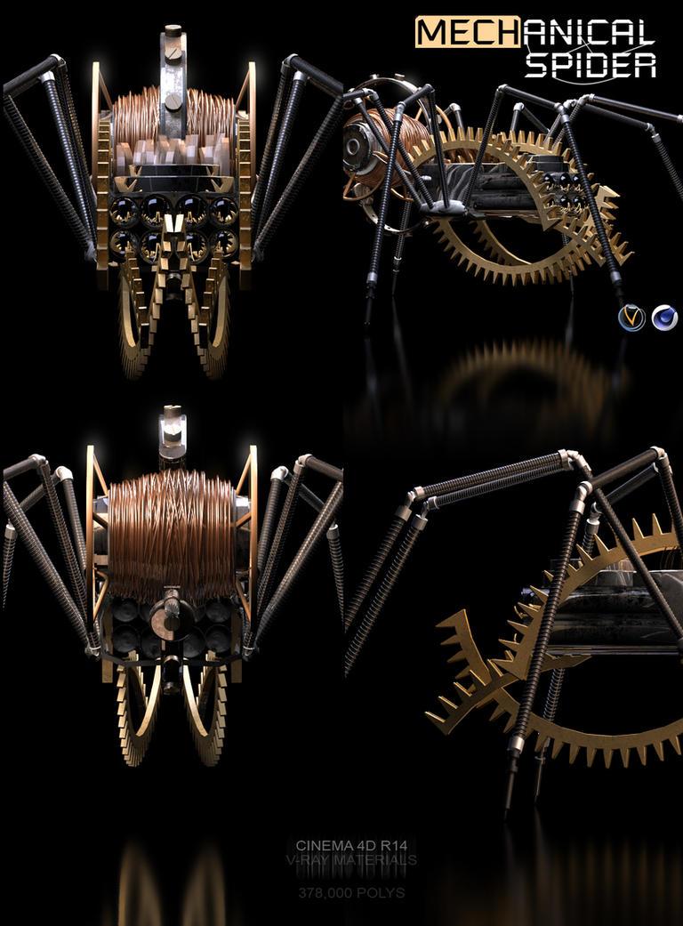 Mechanical Spider Model by abdelrahman