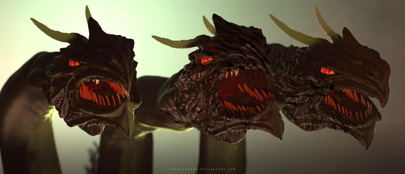 Three Headed Hydra by abdelrahman