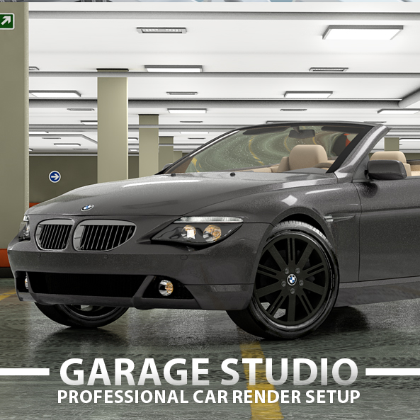 Garage Car Render Setup - 3