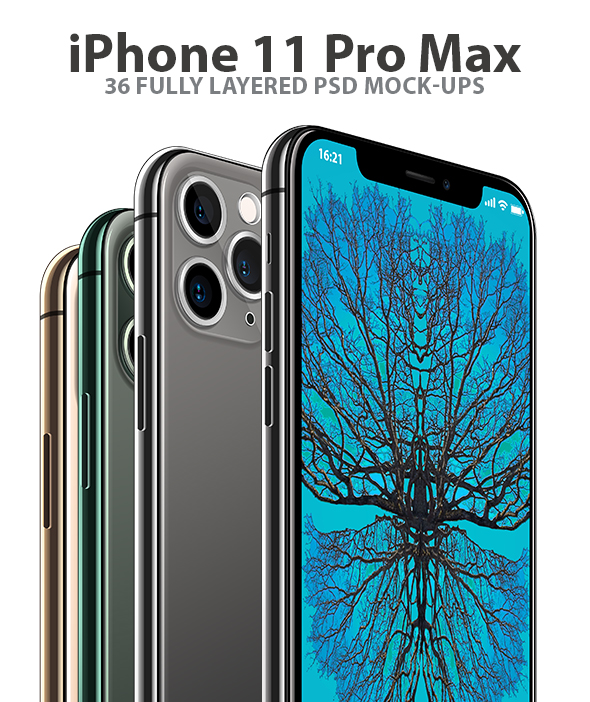 iPhone 11 Pro Max 3D Model for Element 3D and Cinema 4D - 1