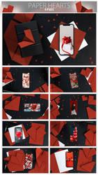 Paper Heart PSD Mock-ups