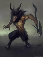 Reproduction of Diablo 3 concept art - Minotaur by DesignSpartan