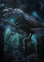 Raven God by DesignSpartan