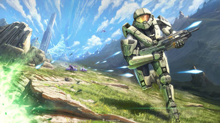 Gaming Painting #1 - Halo fan art (with video)