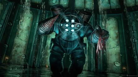 Gaming Painting #2 - Bioshock fan art (with video)