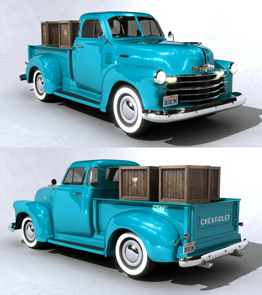 chevrolet pickup 1951 3d model by myssi mcf on deviantart. Black Bedroom Furniture Sets. Home Design Ideas