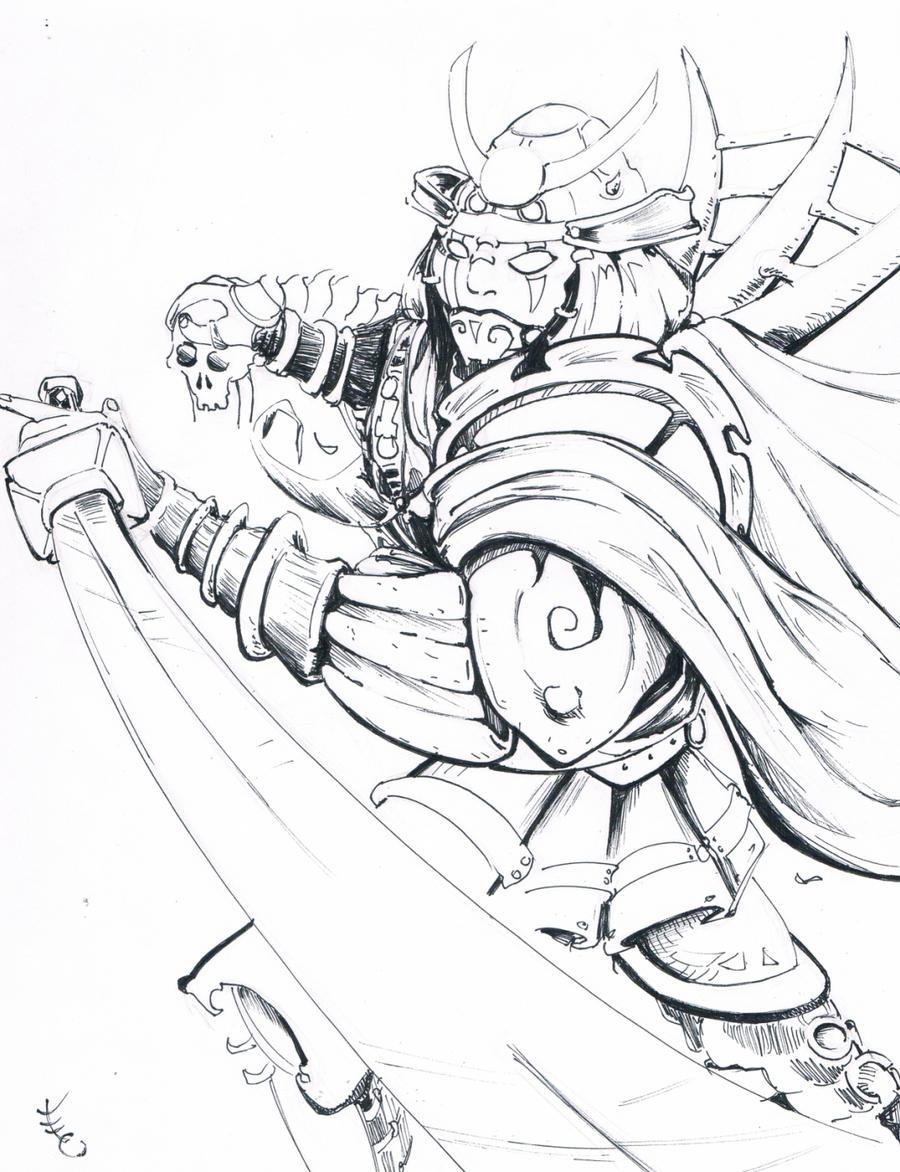 how to draw a samurai warrior