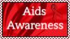 Aids Awareness Stamp by LadyVsArtAndStock