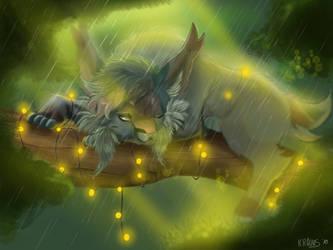 Rainy days with fairy lights by Kravuus