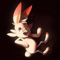 Fire bunny POwahh by Kravuus