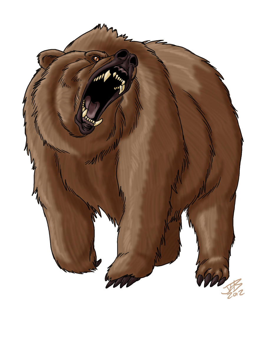 bear roaring by prodigyduck on deviantart