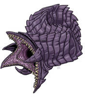 Purple Worm by ProdigyDuck