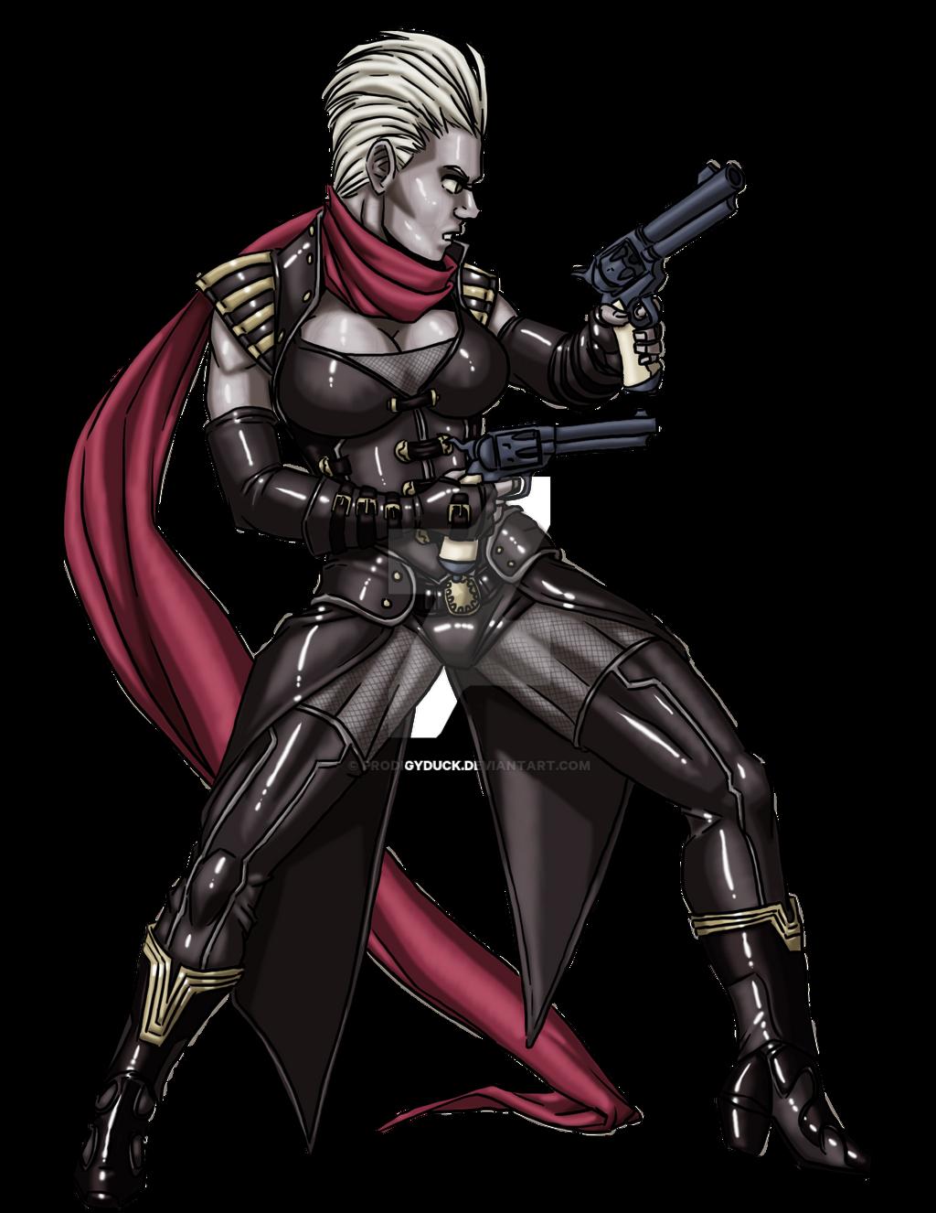 Oread Gunslinger by ProdigyDuck on DeviantArt