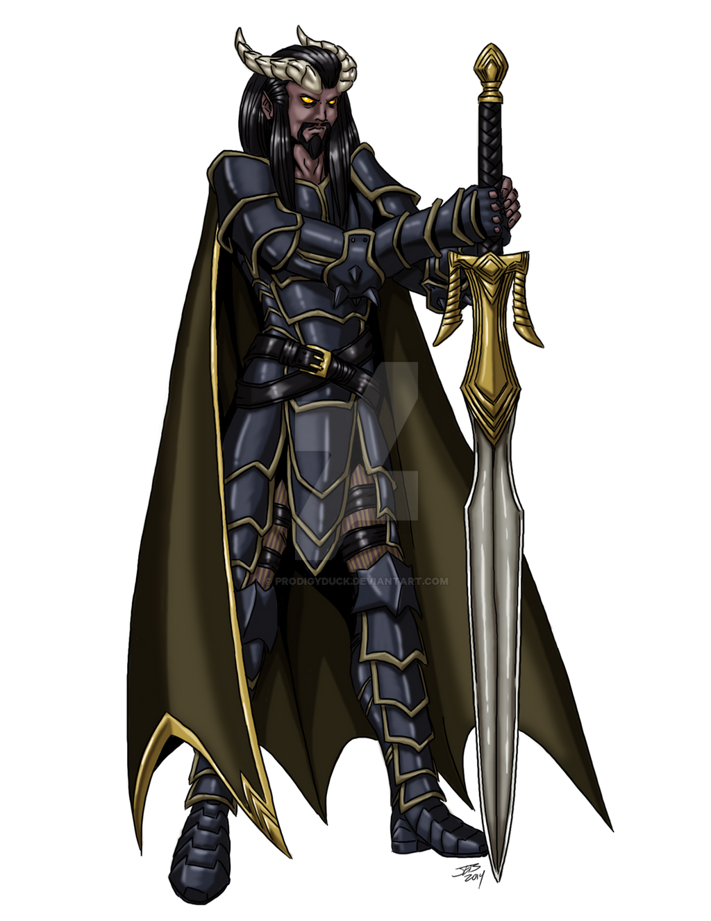 tiefling male warrior by prodigyduck on deviantart