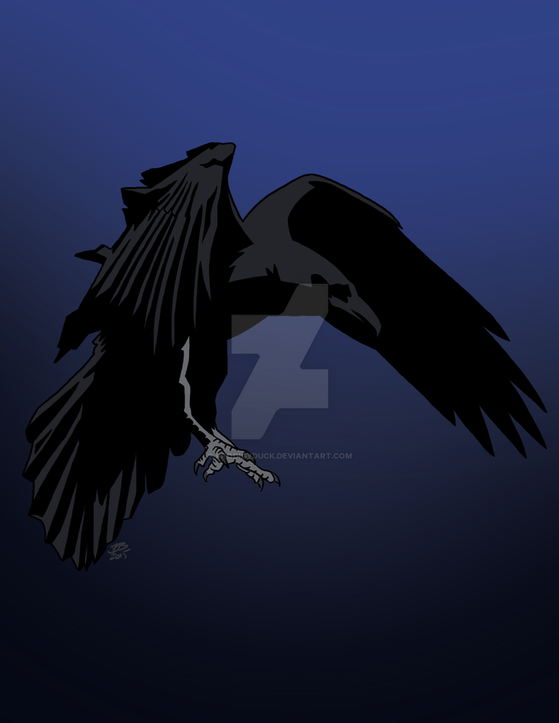 Drawlloween 2015: Raven by ProdigyDuck