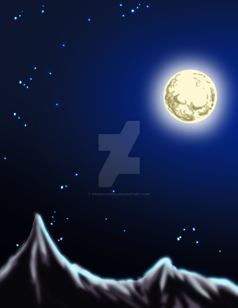 Drawlloween 2015: Moon by ProdigyDuck
