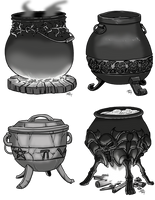 Cauldrons by ProdigyDuck