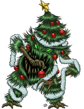 Yuletide Tree Monster