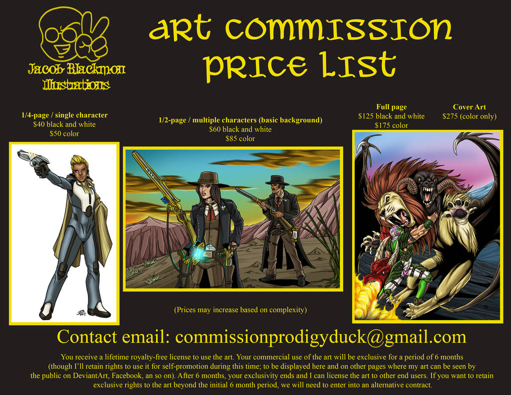 Commission Rate Sheet 2018