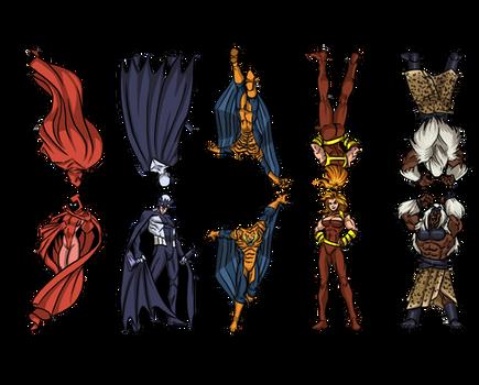 Masters of Evil Paper Figures Set 01