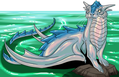 Otter Dragon Adult by ProdigyDuck
