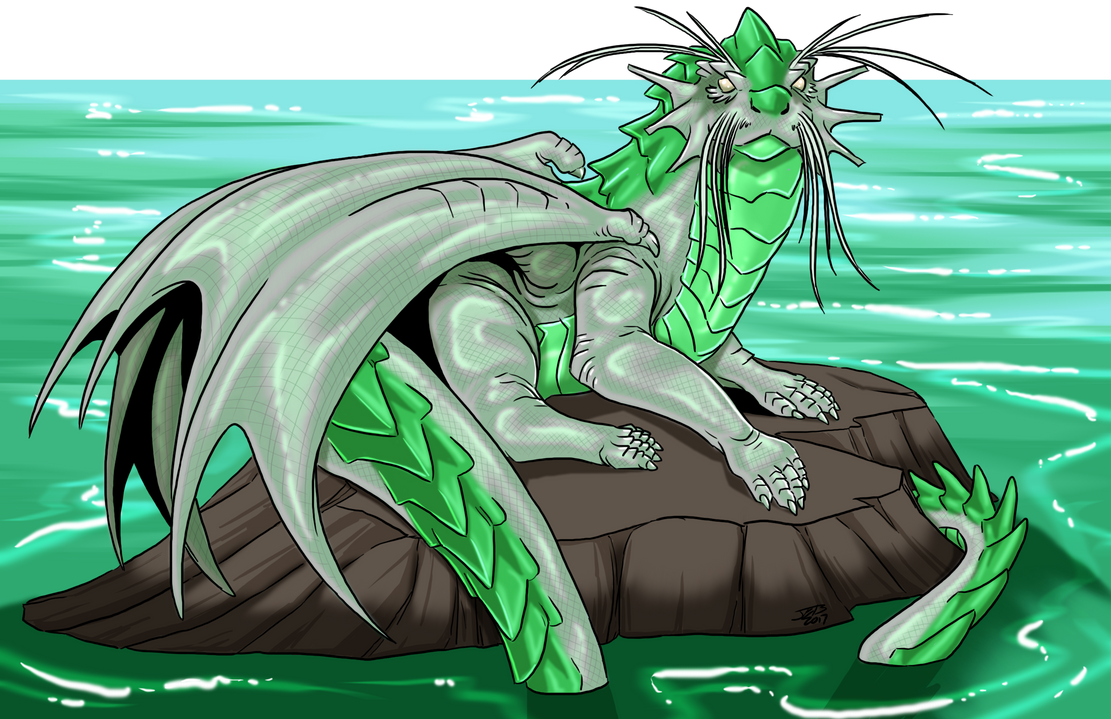 Otter Dragon Older by ProdigyDuck