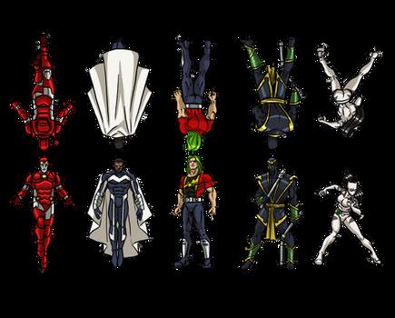 Marvel Heroes Paper Figures