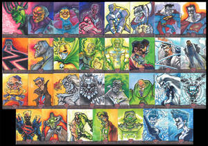Superman Sketch Cards - Villains