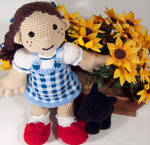 Dorothy and Toto amigurumi