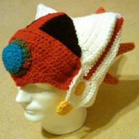 crochet Axl helmet by BunnieBard
