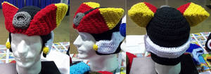 crochet Mega Man ZX Advent hat by BunnieBard