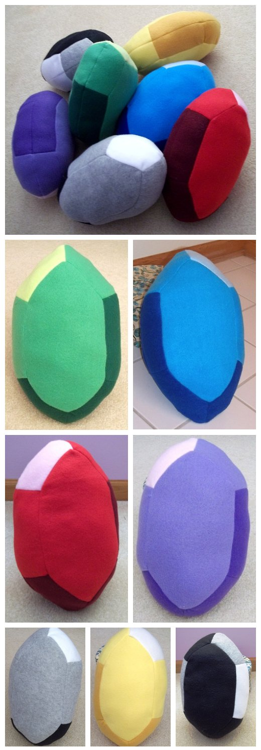 Zelda Rupee Pillows by BunnieBard
