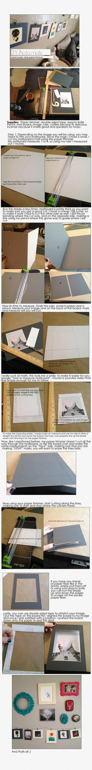 DIY: Photo mat's