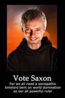Vote Saxon Poster by StarrFrost