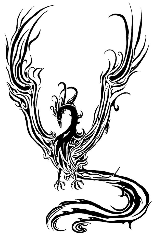 Black Phoenix Tatoo by Albinodrow409