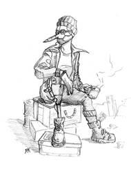 PeliKan, The Scrap Trader by Cooyari-PK